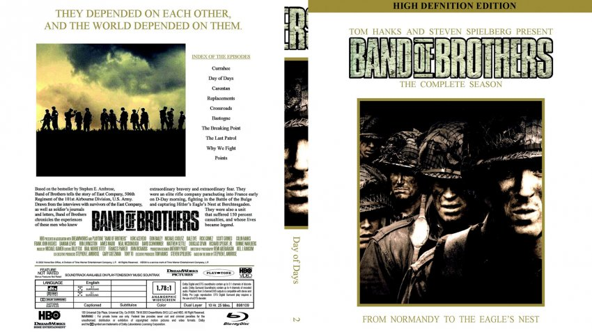 Band of Brothers D2 Blu ray Scan