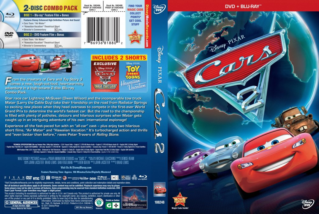 cars 2 movie dvd scanned covers