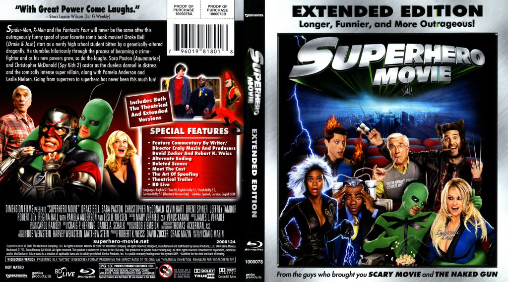 ... Movie - Movie Blu-Ray Scanned Covers - Superhero Movie1 :: DVD Covers