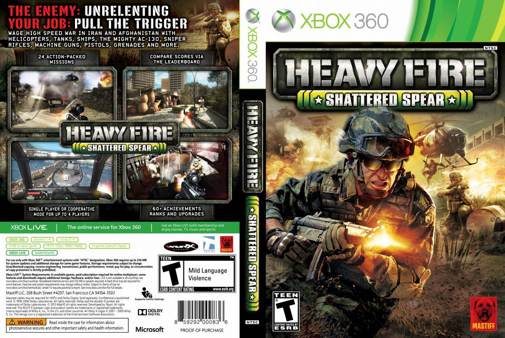 Heavy Fire : Shattered Spear XBOX 360